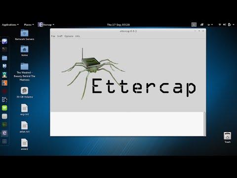Kali Linux - How to Sniff Network Using Ettercap and Driftnet