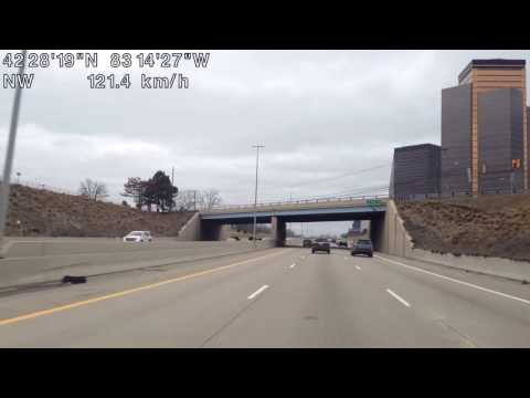 Driving from Detroit, Michigan to Keego Harbor, Michigan
