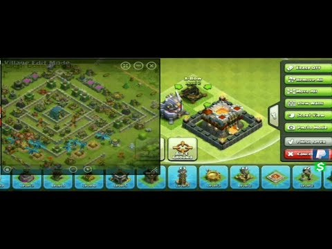 How To Copy Somebody Clash Of Clans Layout Using Base Designer App For Android