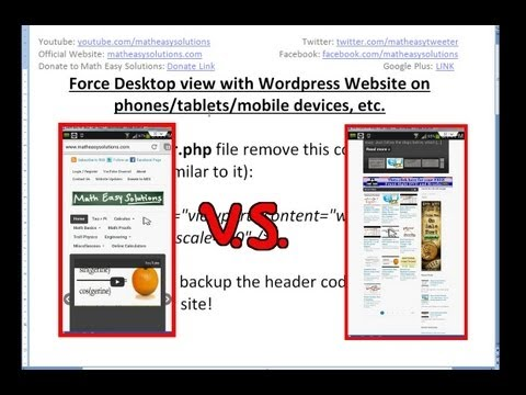 Force Desktop View with WordPress Website on Mobile Devices - 동영상