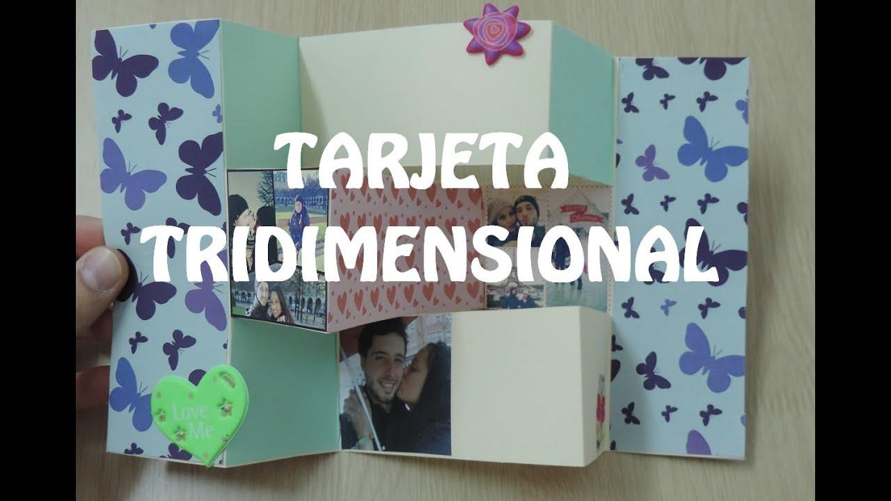 tarjeta tridimensional aniversario sorpresas para tu