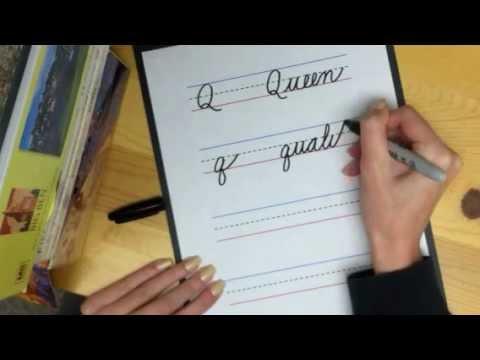 Learn cursive letter q youtube expocarfo Choice Image