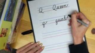 """Learn Cursive Letter """"Q"""""""