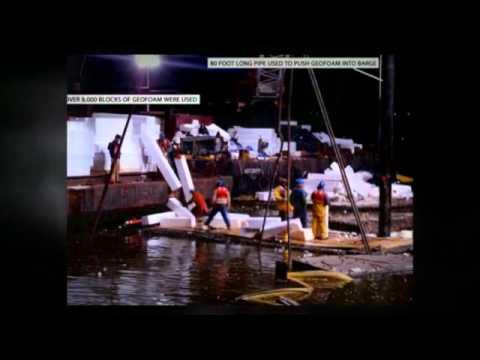 Sunken Barge Raised with EPS Floatation Blocks
