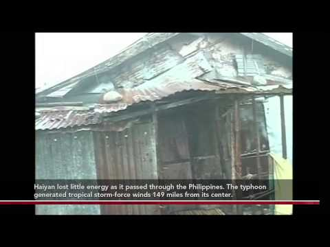 Watch super typhoon Haiyan in the Philippines