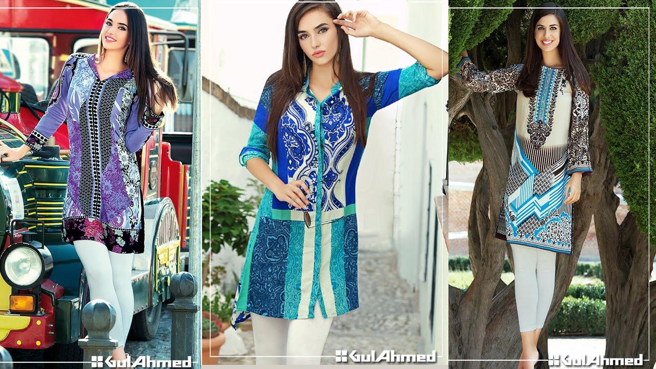 Gul Ahmed Winter Single Kurti Amazing Women Dress   YouTube