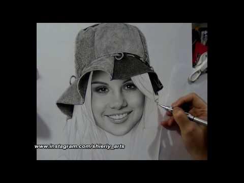 Realism Portrait Drawing Of Selena Gomez