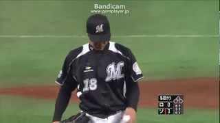 2012/03/04 千葉ロッテドラフト1位 藤岡貴裕 オープン戦初登板 thumbnail