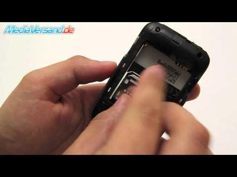 HTC Wildfire S SIM-Karte und Akku einsetzen
