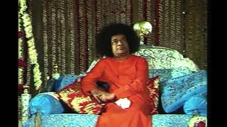 Sri Sathya Sai Baba Birthday Video Swami sitting on the Jhoola