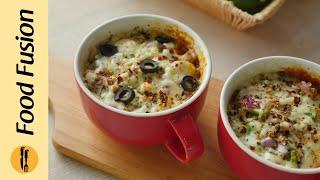 Microwave Mug Pizza 3 Ways Recipe By Food Fusion