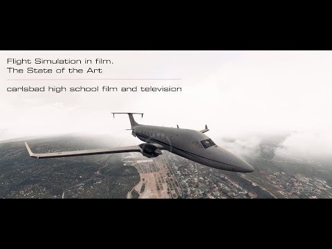 Flight Simulation and Film. Short video created entirely on a computer
