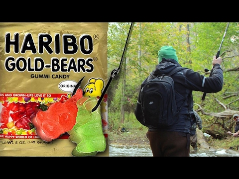 Fishing With Candy? Gummy Fishing Challenge - Fish World 10