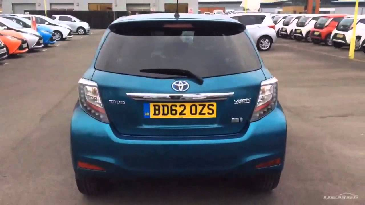 toyota yaris t spirit hybrid turquoise 2012 youtube. Black Bedroom Furniture Sets. Home Design Ideas