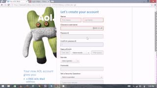AOL Mail UK Sign Up - AOL Mail UK Registration / Create New AOL UK Account 2015