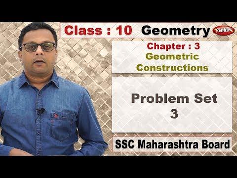 Class 10 | Maths | Geometry | Ch 03 | Geometric Constructions | Problem Set 3