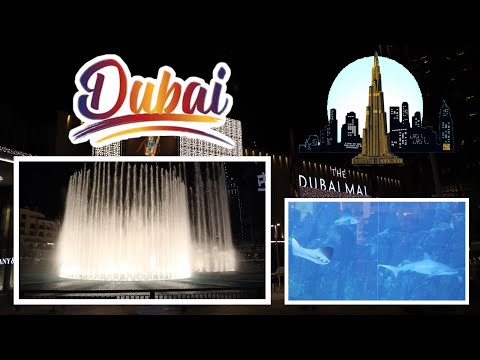 DUBAI AQUARIUM AND UNDERWATER ZOO | DUBAI DANCING FOUNTAIN