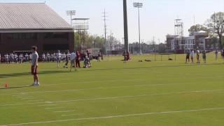 Watch Jalen Hurts + Tua Tagovailoa work at Alabama spring practice, day 1