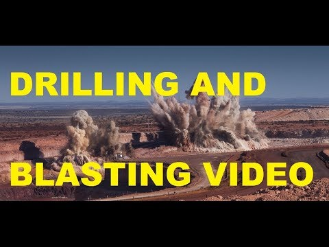 DRILLING AND BLASTING VIDEO / OPENCAST MINE / BAUXITE MINE / INDIA