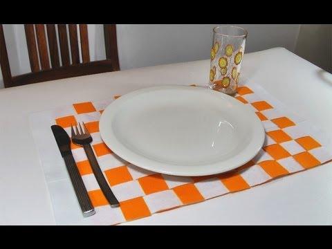 Manualidades para la casa individual posa platos manualidades para todos youtube - Individuales para mesa ...