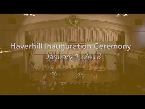 Haverhill Inauguration Ceremony 2018