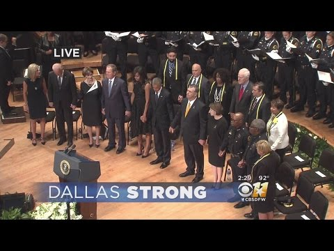 Interfaith Service For Fallen Dallas Officers Ends With 'Battle Hymn of the Republic'