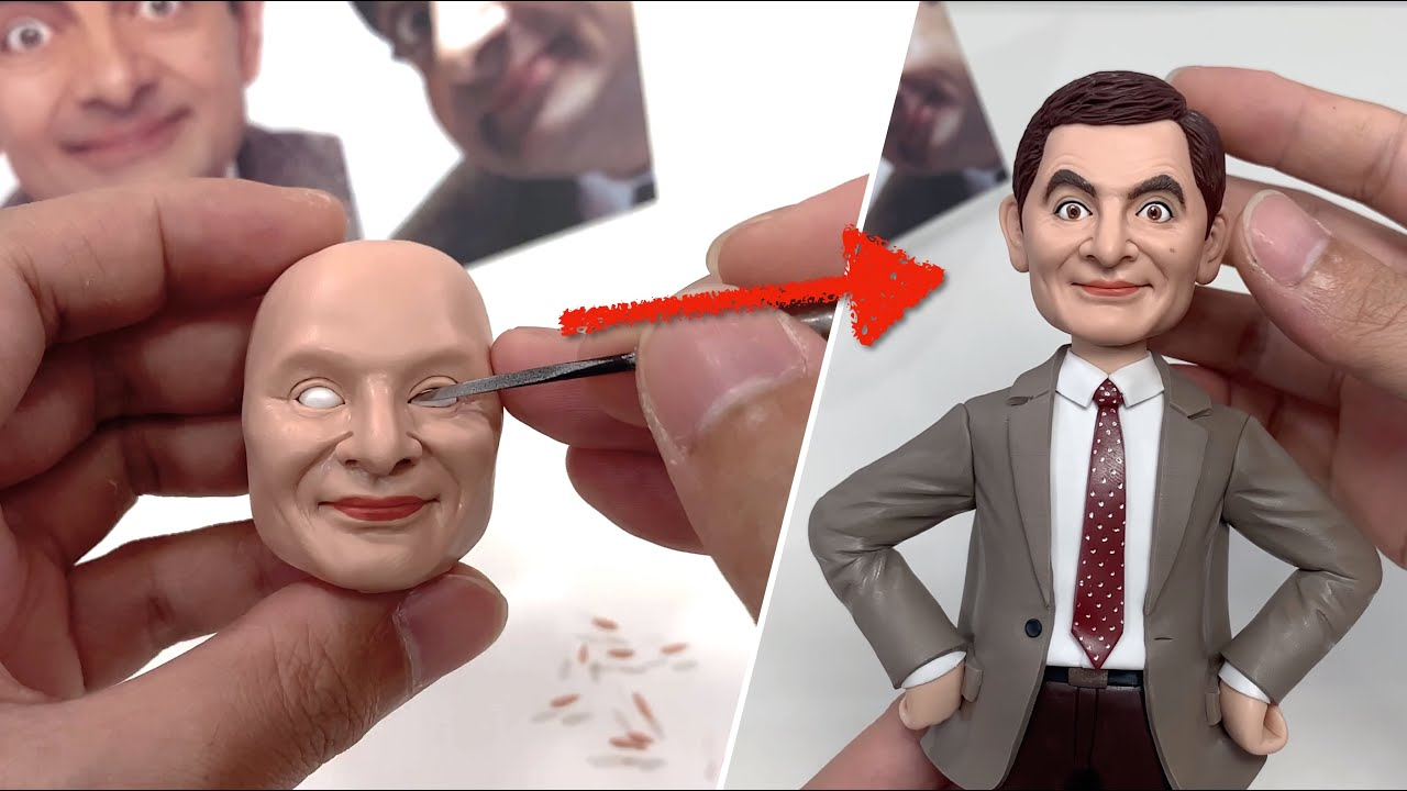 Clay Sculpture: Mr Bean, the full figure sculpturing process from scratch【Clay Artisan JAY】