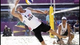 Olympic beach volleyball trumpet sound