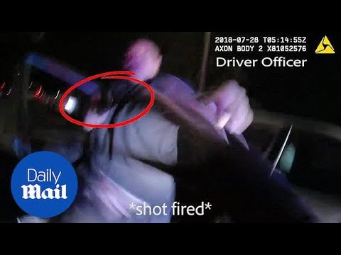 Body cam shows suspect shoot officer during traffic stop in LA Mp3