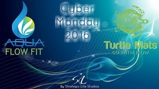 Cyber Monday Aqua Flow Fit and Turtle Mats by Strategic Life Studios