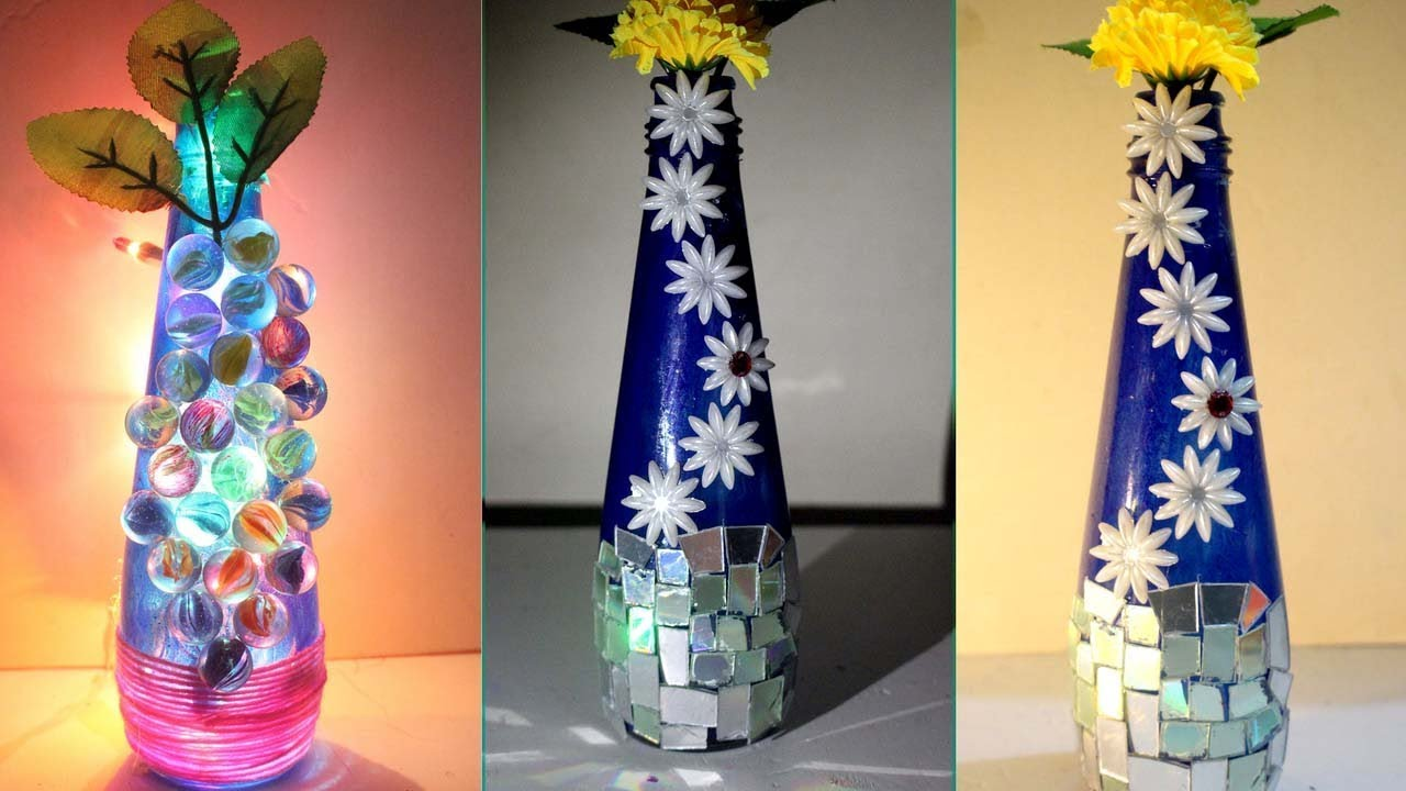 DIY - How to make flower vase at home - Ways to decorate a ...
