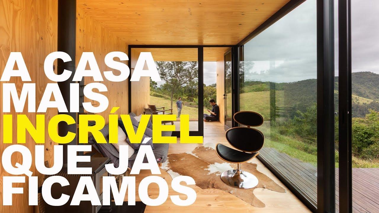 Arquitetura Minimalista Casa De Vidro Nas Montanhas é A
