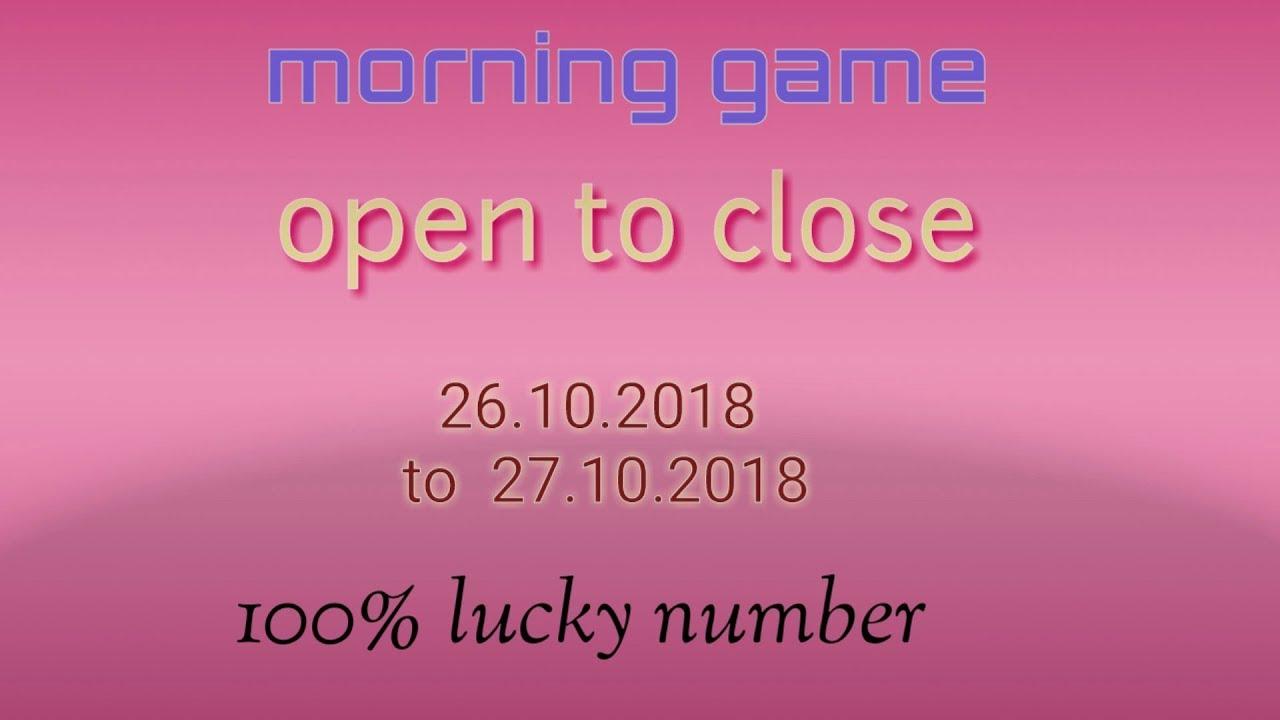 Morning syndicate open   220 Patti   26 10 18 to 27 10 18   morning satta  matka