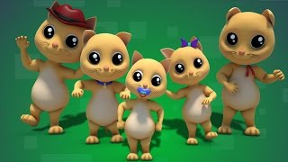 Cat Finger Family | nursery rhyme Farmees | kids songs | 3D rhyme | Children Song by Farmees S01E141