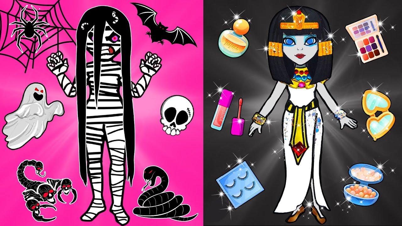 Paper Dolls Dress Up - New Make Up Challenge Sadako Transform Into Queen of Egypt - Dolls Beauty#115