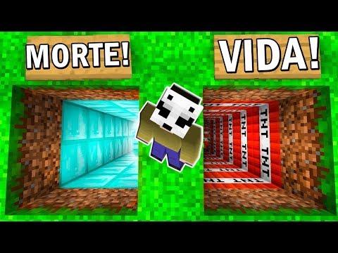 NÃO ESCOLHA O BURACO ERRADO DO MINECRAFT!! MORTE VS VIDA thumbnail