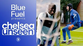 Kurt Zouma Goes In Goal! 🤣 Petr Cech Helps Train Chelsea Goalkeepers | Chelsea Unseen