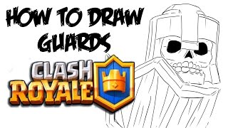 How to Draw Guards (Clash Royale)