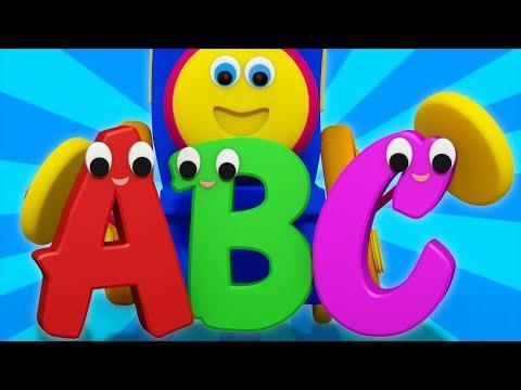 abc song | abc train | learning street with bob | alphabet song | kids tv abc | learn abc