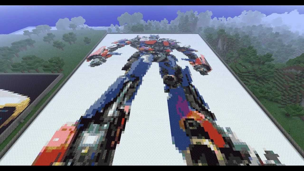 Minecraft Pixel Art Part 6 Optimus Prime