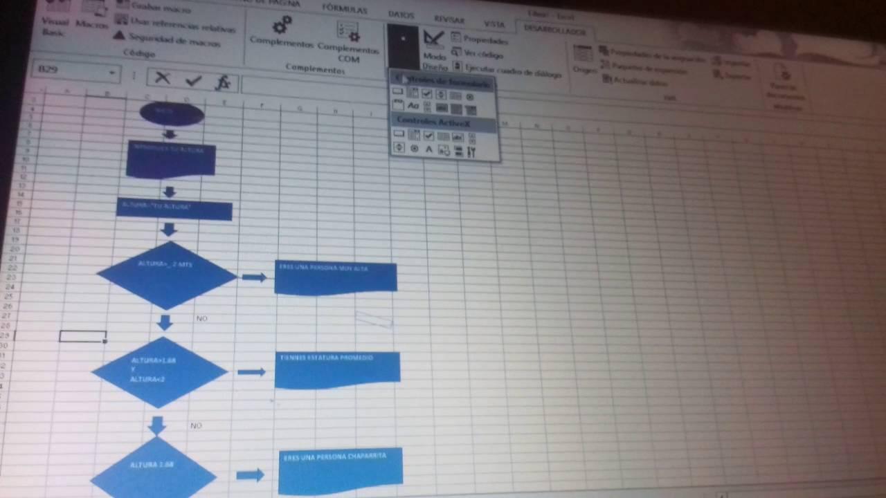Como hacer un diagrama de flujo en excel youtube ccuart Images