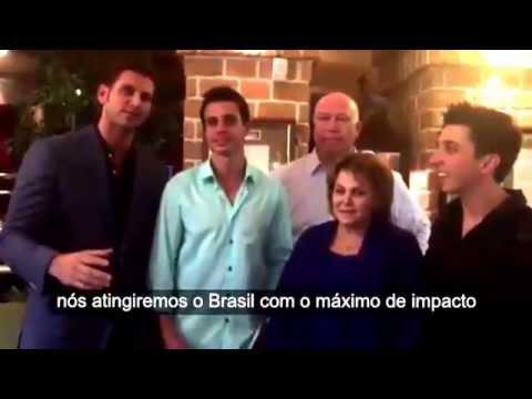 A Fundadora da Jeunesse Wendy Lewis e o CVO Scott A. Lewis anunciando a chegada da Empresa no Brasil