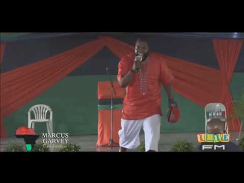 UMAR JOHNSON in Jamaica for Marcus Garvey BIG EVENT