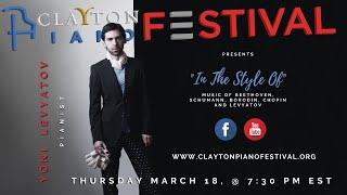Clayton Piano Festival presents Yoni Levyatov