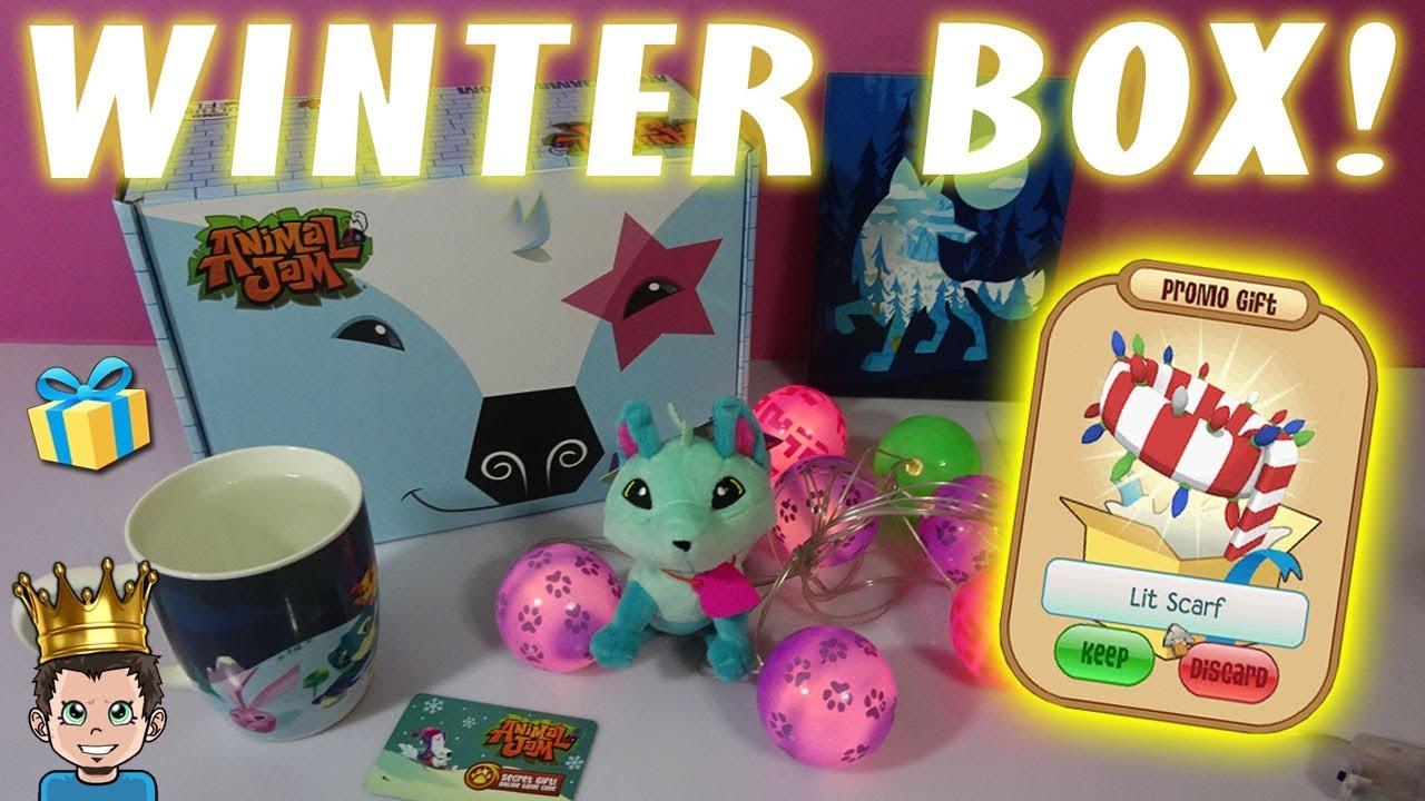 The Animal Jam Winter Box Is So Lit!!! 🎄 New Promo Scarf!