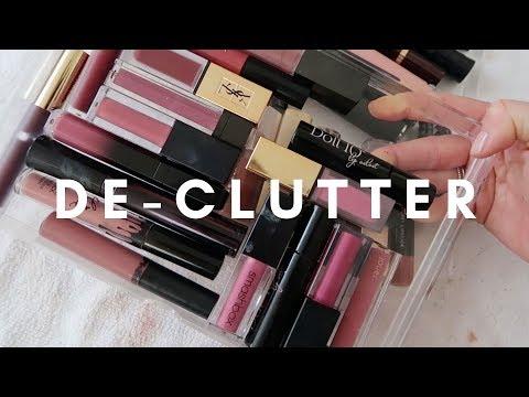 HUGE MAKEUP STORAGE DE CLUTTER || STYLE LOBSTER