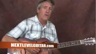 Learn Delta Blues Slide guitar Son House inspired open G alternate tuning on resonator acoustic
