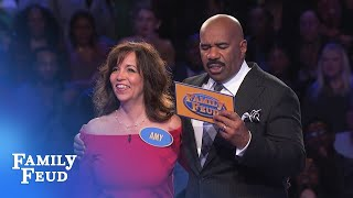 AMY'S gettin' in the MONEY! | Family Feud