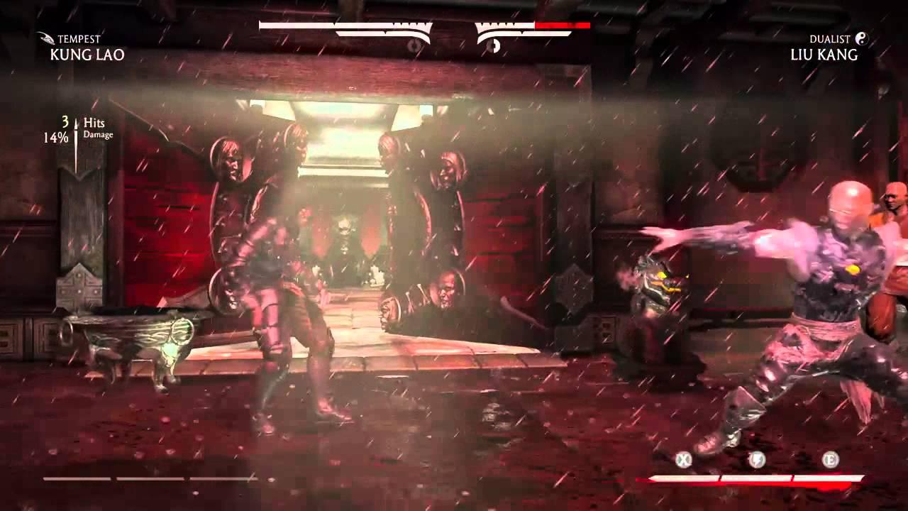 Mortal kombat x kung lao vs liu kang revenant fight youtube