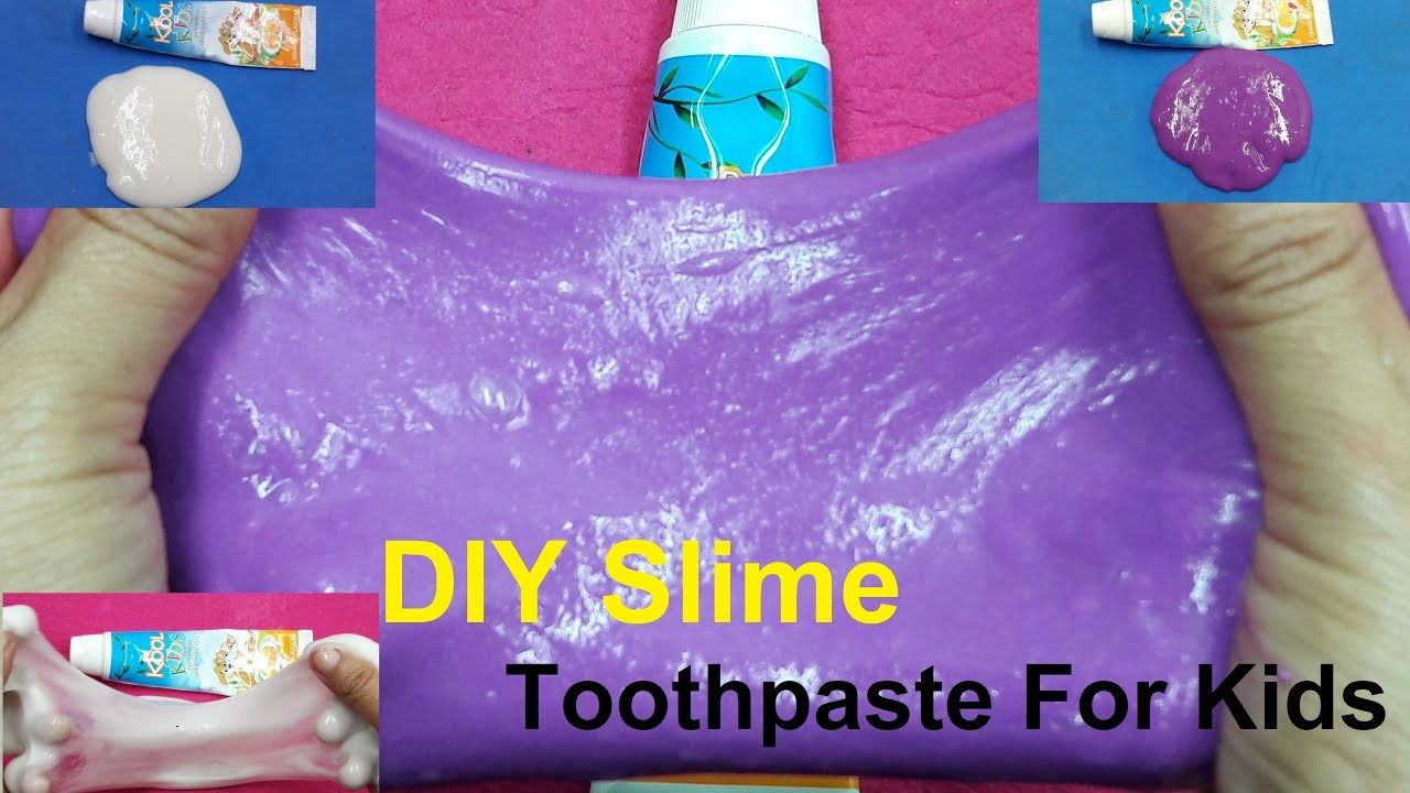 how to make toothpaste slime without glue